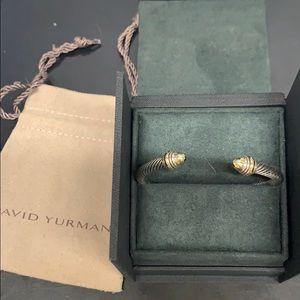 David Yurman silver and Gold bracelet